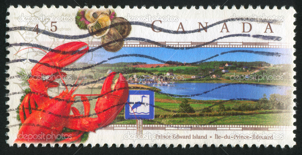 CANADA - CIRCA 1998: stamp printed by Canada, shows Blue Heron Route, Prince Edward Island, circa 1998  Stock Photo #5458969