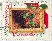Francobollo stampato da canada — Foto Stock