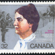 图库照片: Stamp printed by Canada