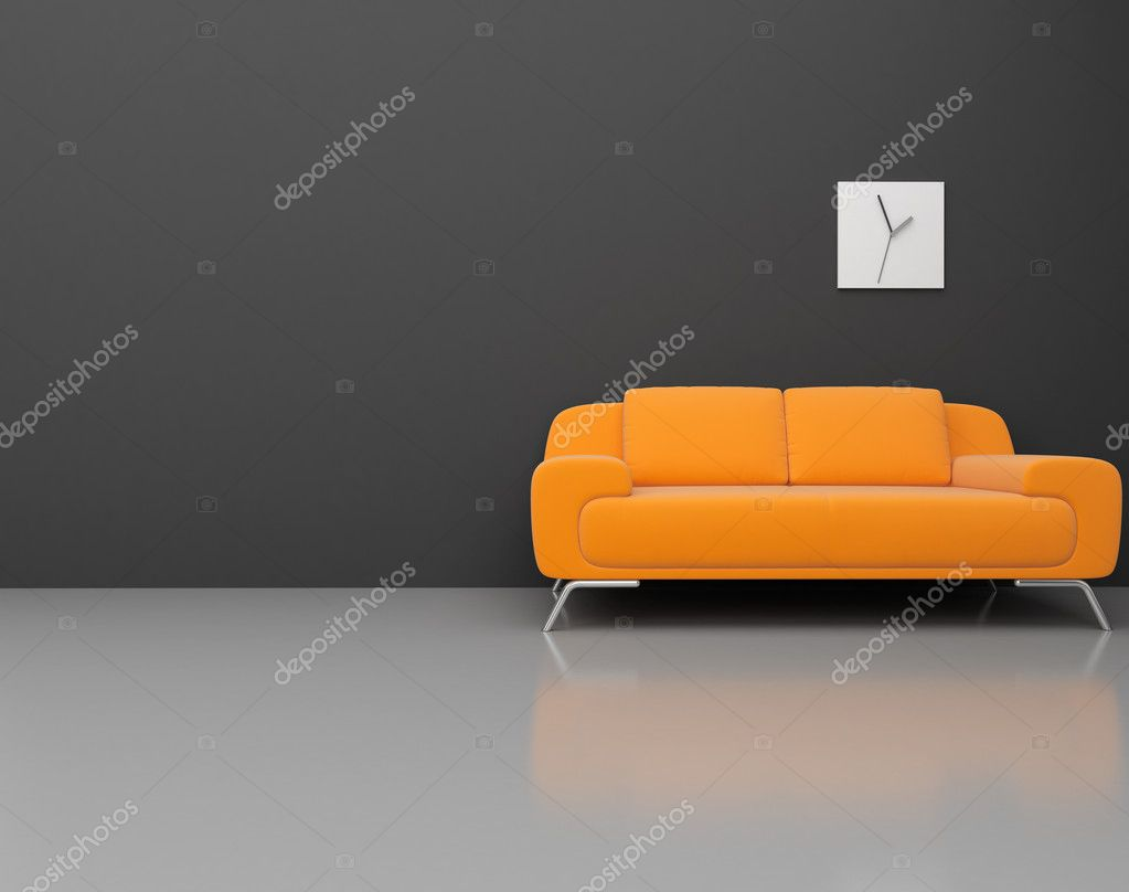 High resolution image. 3d rendered illustration. Interior of the modern room. — Stock Photo #6017431