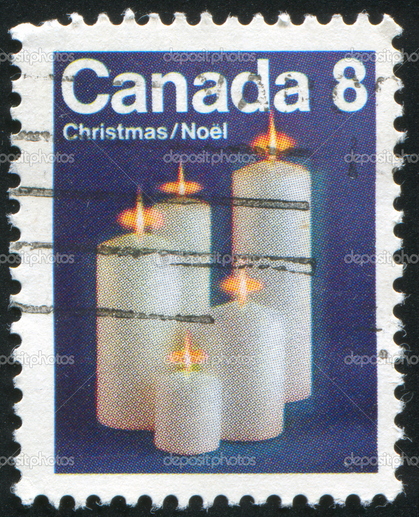 CANADA - CIRCA 1972: stamp printed by Canada, shows Candles, circa 1972 — Stock Photo #6017561