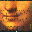 Poststamp Gioconda — Stock Photo