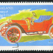 Poststamp car - Stock Photo