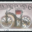 Poststamp motorbike - Stock Photo