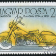 Poststamp motorbike — Stock Photo