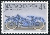Poststamp motocyklowe — Zdjęcie stockowe