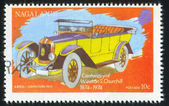 Poststamp car — Stock Photo