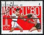 Boxeo poststamp — Foto de Stock