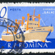 Stock Photo: Poststamp ship