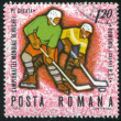 Poststamp hockey - Stock fotografie