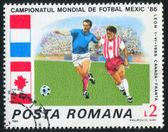 Poststamp piłka nożna — Zdjęcie stockowe