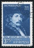 ROMANIA - CIRCA 1956: stamp printed by Romania, show Rembrandt, circa 1956. — Stock Photo