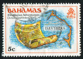 Eleuthera map — Foto Stock