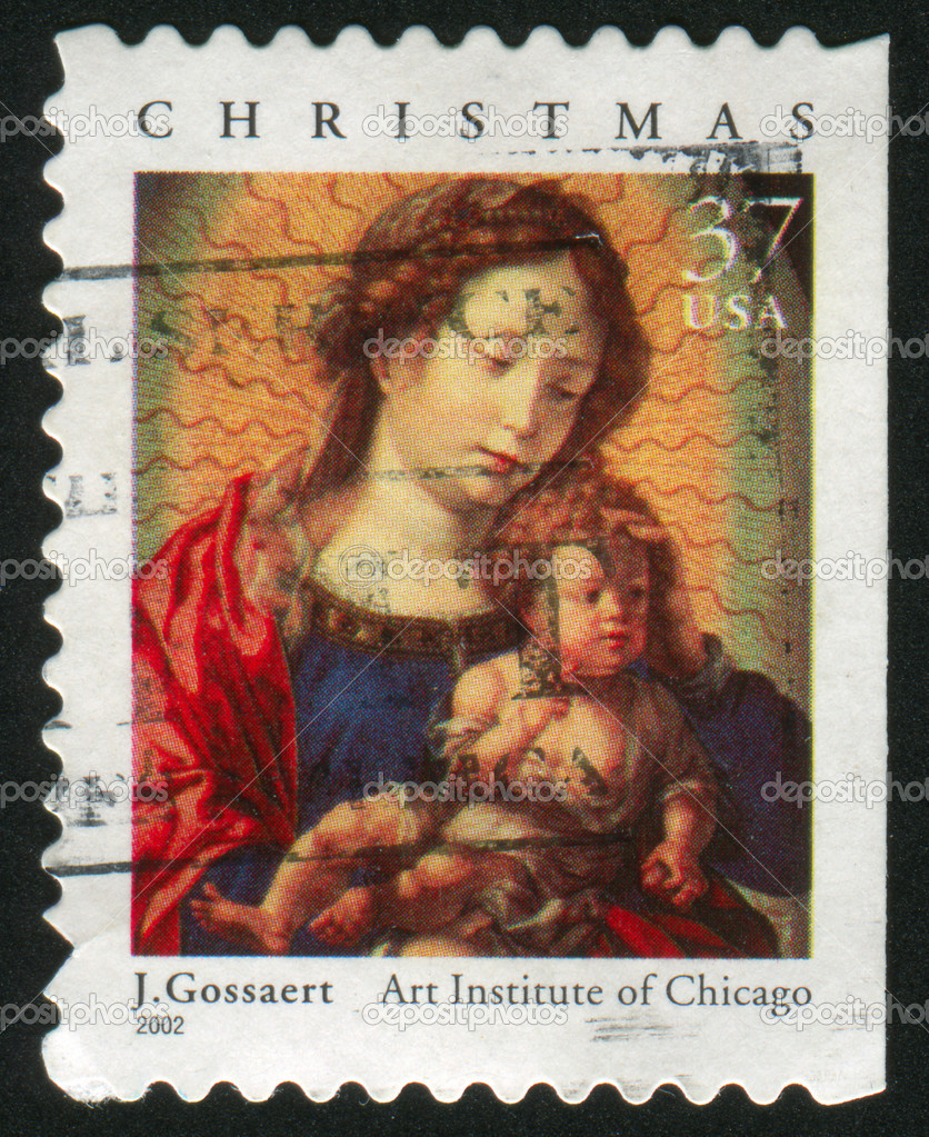 UNITED STATES - CIRCA 2002: stamp printed by United states, shows madonna, circa 2002 — Stock Photo #6397658