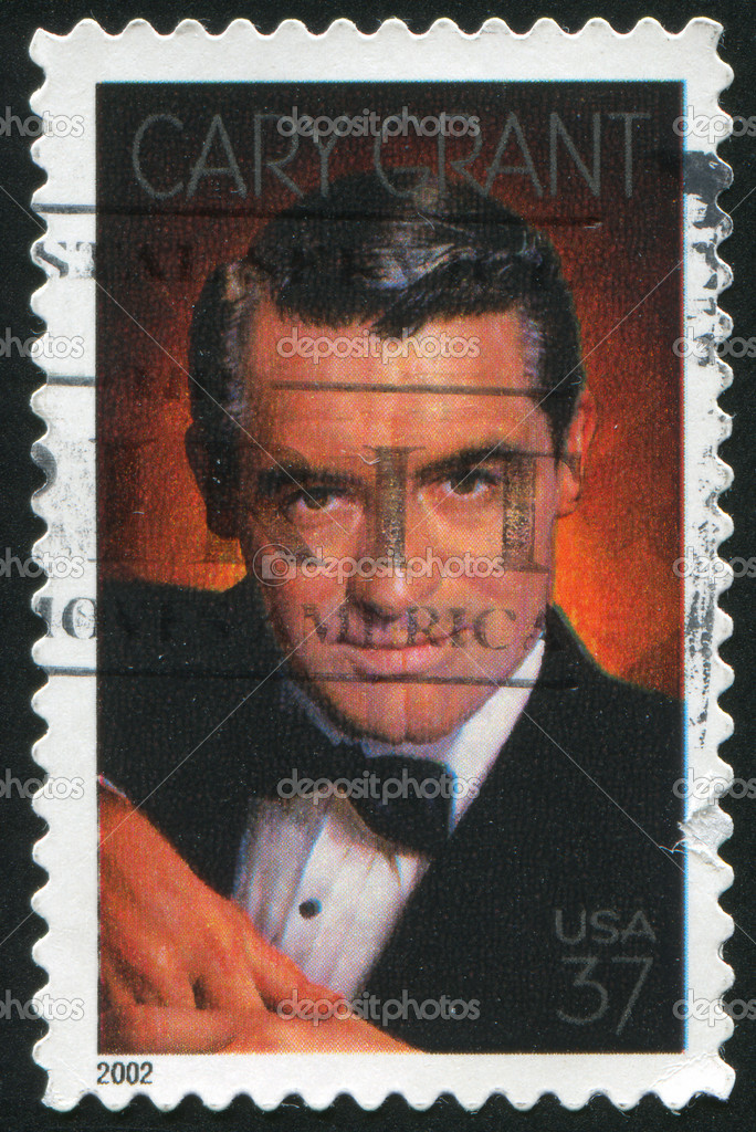 UNITED STATES - CIRCA 2002: stamp printed by United states, shows Cary Grant, Actor, circa 2002 — Stock Photo #6397973