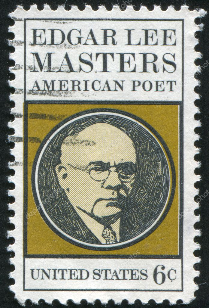 UNITED STATES - CIRCA 1970: stamp printed by United states, shows Edgar Lee Masters, circa 1970  Stock Photo #6440583