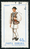 Stamp printed by Romania — Foto de Stock