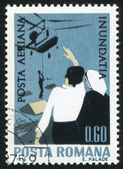 Stamp printed by Romania — Stock fotografie