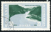 Stamp printed by Romania — Stock Photo