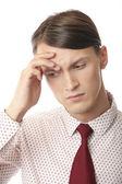 Headache and depression — Stock Photo