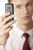 Using cell phone — Stock Photo
