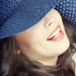 Lady with hat — Stock Photo