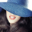 Blue hat — Stock Photo