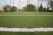 Penalty area on football court — Stock Photo