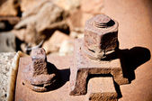 Rusty screw close up — Stock Photo