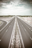 Empty asphalt highway — Stock Photo
