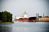 Container ships in dockyard — Stock Photo