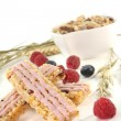 Forest berry muesli bar — Stock Photo