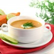Salmon cream soup — Stock Photo