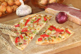 Tarte flambee — Stock Photo