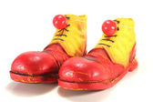 Clown shoes with clown noses — Stock Photo