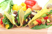 Mexican tacos with beef — Stock Photo