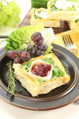 Goat cheese tartlets — Stock Photo
