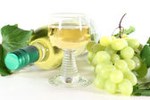 White wine with glass — Stock Photo