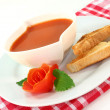 Tomato Cream Soup — Stock Photo