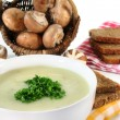 Cream of mushroom soup — Stock Photo #5555119