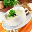 Cream of mushroom soup - Stock Photo