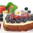 Forest fruit tart — Stock Photo