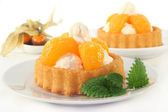 Mandarins pie — Stock Photo