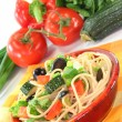 Spaghetti salad — Stock Photo