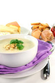 Cheese Cream Soup — Stock Photo