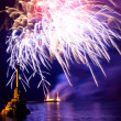 Salute, fireworks above Sevastopol bay. — Stock Photo #5837445
