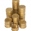 Column of golden coins — Stock Photo #5837557