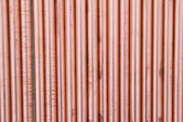 Koppar rör-kan användas för abstrakt bakgrund. — Stockfoto