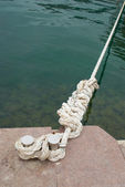 Mooring and knight with rope — 图库照片