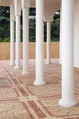 Columnas blancas frente a la casa. — Foto de Stock